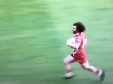 Jugador de rugby parecido a Mohamed Salah.