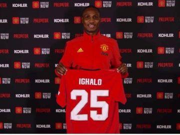 Ighalo, con los colores del Manchester United