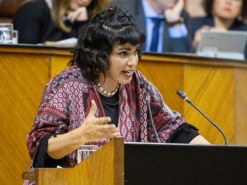 La coordinadora de Podemos Andalucía y líder del sector Anticapitalista, Teresa Rodríguez