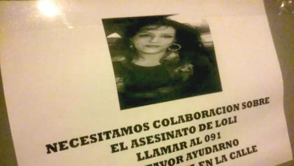 Cartel pidiendo colaboración ciudadana ante el crimen de San Juan de Aznalfarache