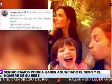 Sergio Ramos podría haber desvelado el sexo y el nombre del bebé que espera junto a Pilar Rubio
