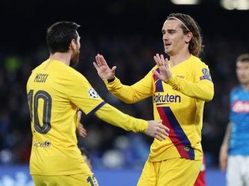 Griezmann y Messi.