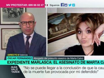 """Óscar Fernández, abogado del presunto asesino de Marta Calvo: """"Prefiero que aparezca el cadáver, su familia necesita un lugar donde llorarle"""""""