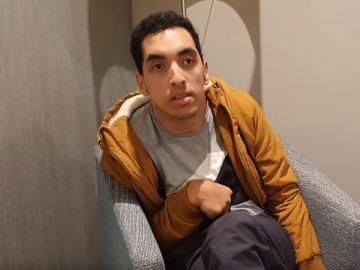 Ismail, en el vídeo con el que ha denunciado la actuación de Ryanair