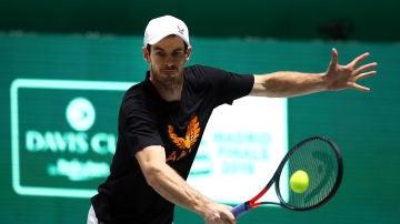 Andy Murray disputando un partido de la Copa Davis