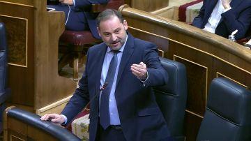 José Luis Ábalos en la sesión de control del Congreso