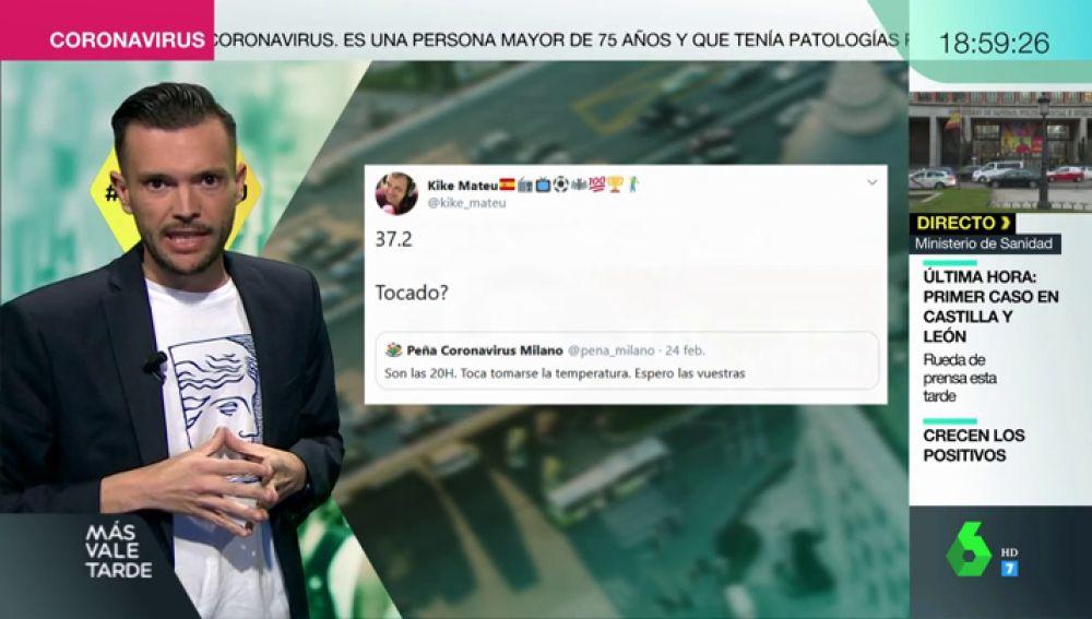 Los tuits premonitorios de Kike Mateu antes de dar positivo en coronavirus