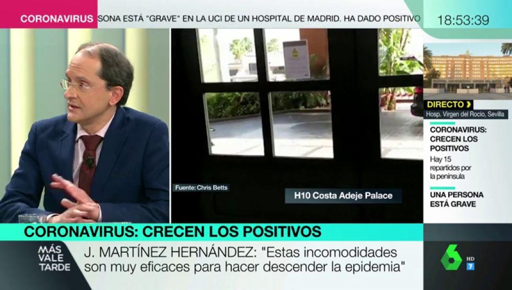 """El epidemiólogo J. Martínez sobre las vacunas del coronavirus : """"No hay que generar falsas expectativas, no podrán estar de una manera legal"""""""