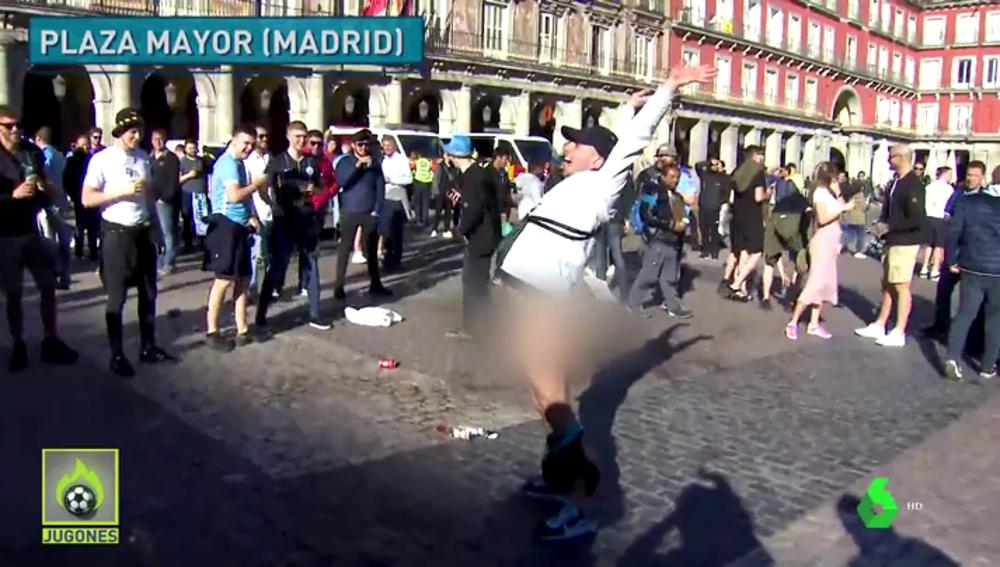 Aficionados del Manchester City en Madrid