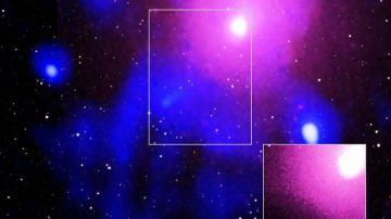 Imagen de la mayor explosión de un agujero negro