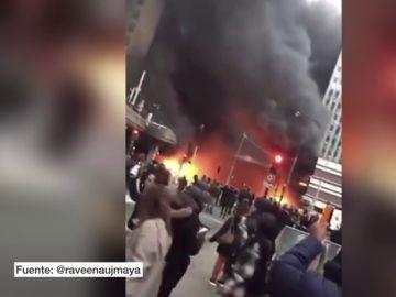Incendio en la estación sur de trenes de París