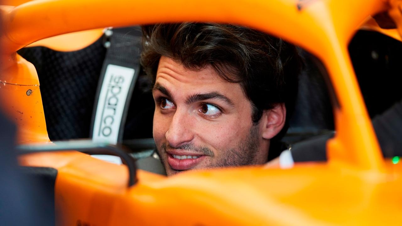 Carlos Sainz, en el monoplaza de McLaren