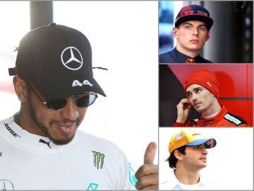Hamilton, Verstappen, Leclerc y Sainz