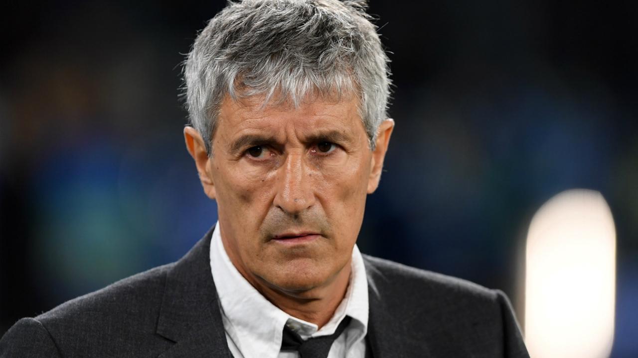 Quique Setién, entrenador del Barça