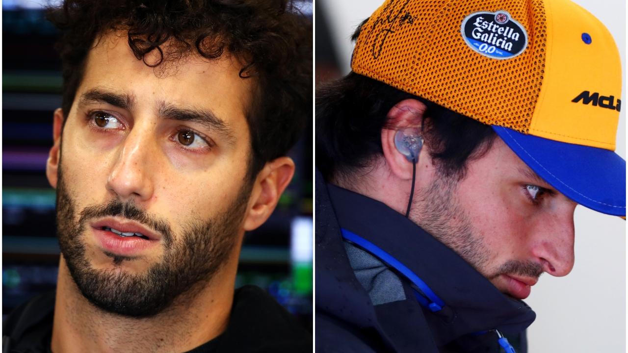 Daniel Ricciardo y Carlos Sainz