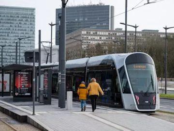Imagen de archivo de un tranvía en Luxemburgo.