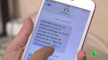 Imagen del mensaje que utilizan para estafar a las víctimas.