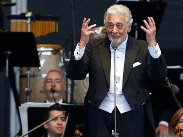 El tenor español Plácido Domingo en una actuación