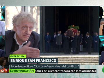 """Enrique San Francisco: """"Yo habría dejado a Franco donde estaba, tenemos otros problemas"""""""