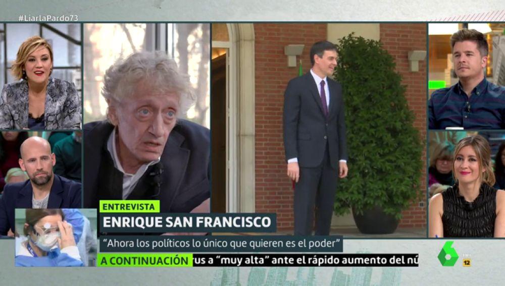 """De """"carroñeros"""" a """"déspotas"""": así describe Quique San Francisco cómo es la política en España actualmente"""