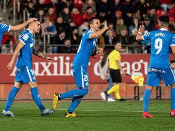 Los jugadores del Getafe celebran un gol