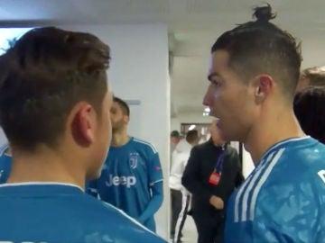 Cristiano Ronaldo, con Dybala