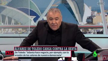 """Ferreras, a Álvarez de Toledo: """"En laSexta no somos independentistas, pero podrán expresarse aquí; aunque a Cayetana y sus pelotas les moleste"""""""