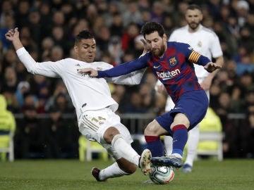Casemiro y Leo Messi