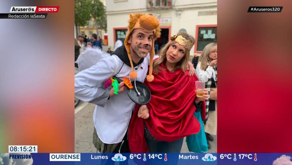 El disfraz de Paula del Fraile y José Yélamo que juega con el doble sentido