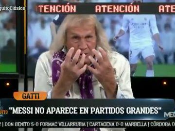 """Gatti, más contundente que nunca: """"Messi parece un exjugador"""""""