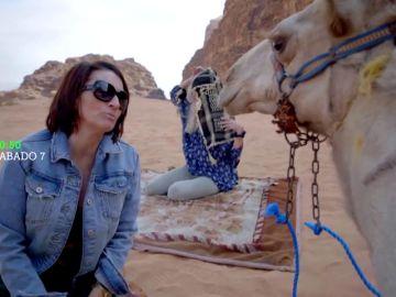 """Silvia Abril visita Jordania con Viajeras con B: """"Esto es una maravilla"""""""