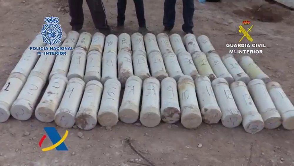 Desarticulada en Alicante una banda que introducía droga escondida en bloques de mármol