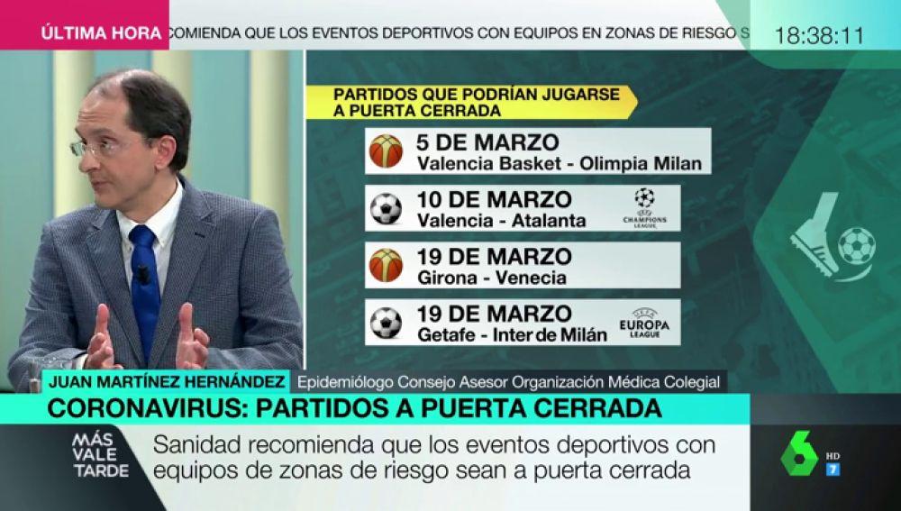 El epidemiólogo Juan Martínez Hernández