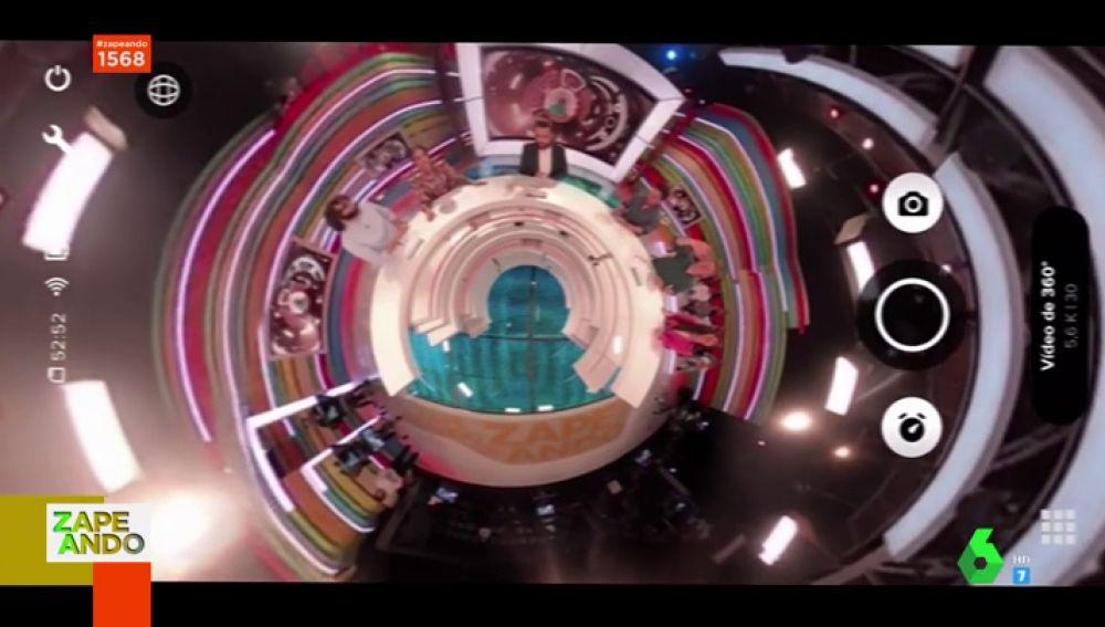 Zapeando, como nunca antes lo habías visto: así es el plató con una GoPro 360