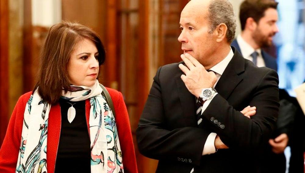 Adriana Lastra y Juan Carlos Campo