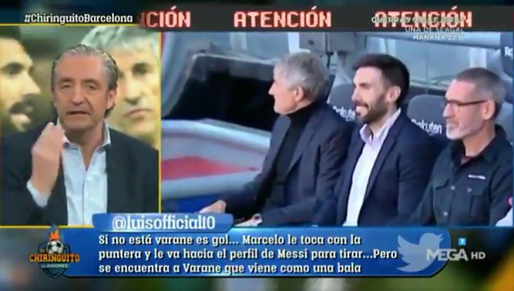 """Josep Pedrerol estalla: """"Al Barça le hacen falla 15 Sarabias"""""""