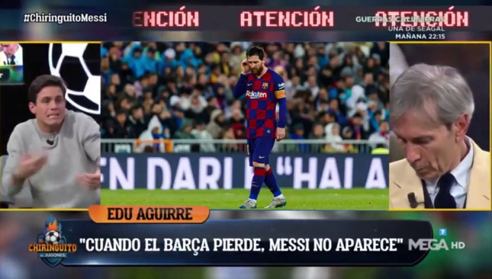 """Edu Aguirre lo tiene claro: """"El declive de Messi ha empezado"""""""