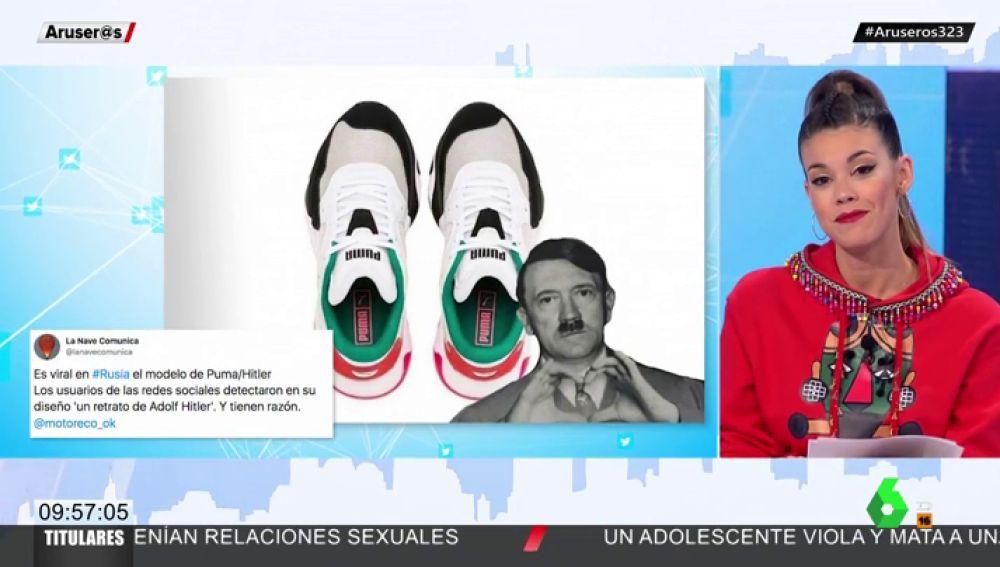 Las redes estallan con el nuevo modelo de zapatillas que recrea el rosto de Hitler