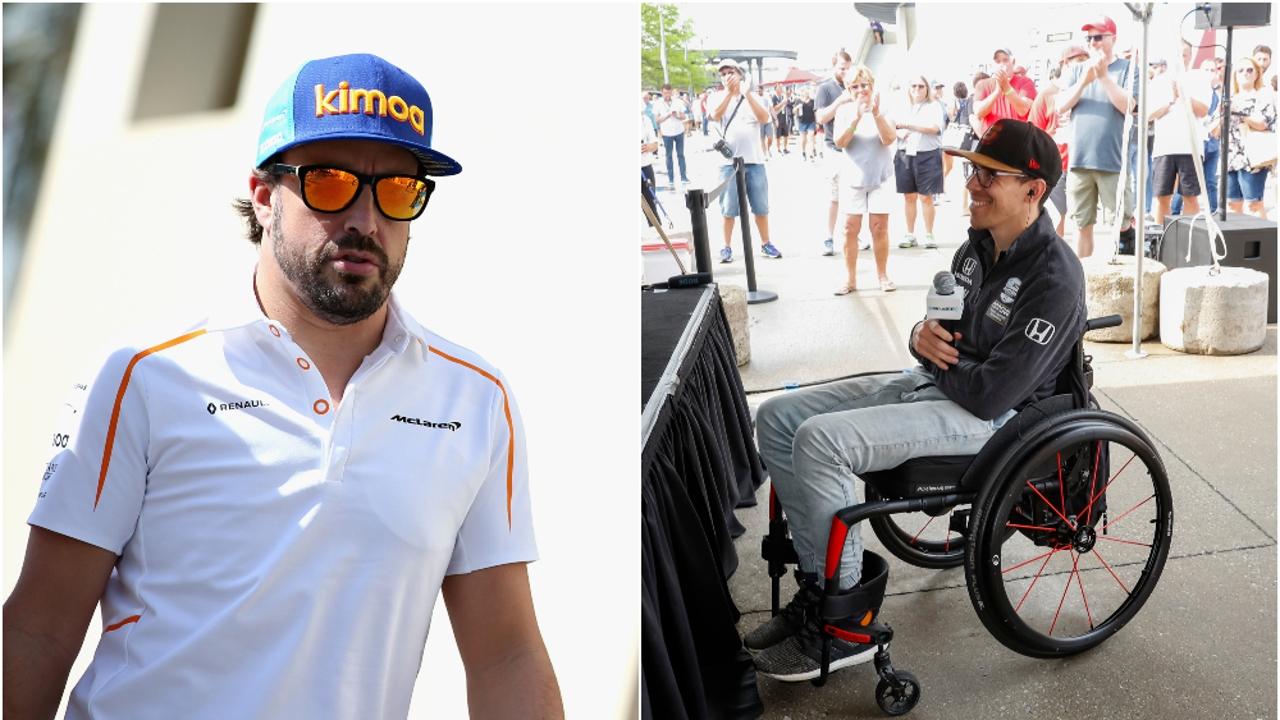 Fernando Alonso y Robert Wickens