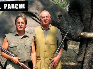 Juan Carlos de Borbón durante la cacería de elefantes en Botswana