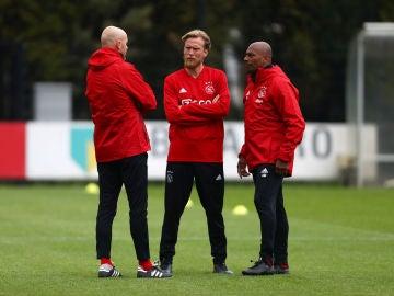 Cuerpo técnico del Ajax.