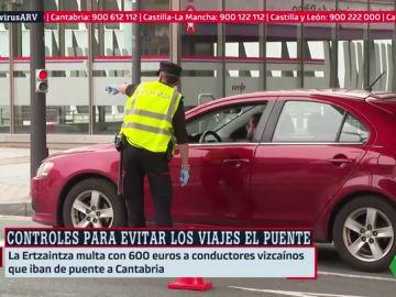 Controles policiales en las salidas de las ciudades para evitar los viajes por el puente de San José