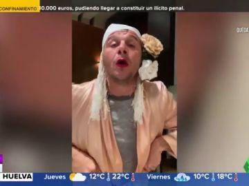 Joaquín ameniza a sus seguidores el confinamiento por coronavirus travestido y cantando 'Bamboleo' de los Gipsy Kings