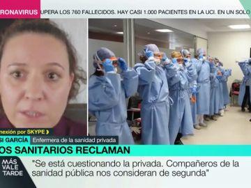 """El mensaje de una enfermera de la sanidad privada: """"No somos profesionales de segunda, nosotros también estamos en primera línea de batalla"""""""