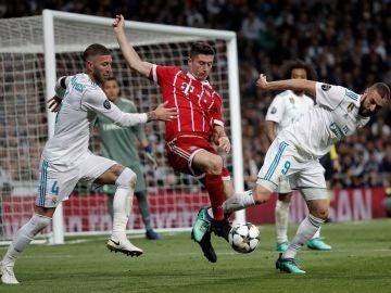 Ramos, Lewandowski y Benzema