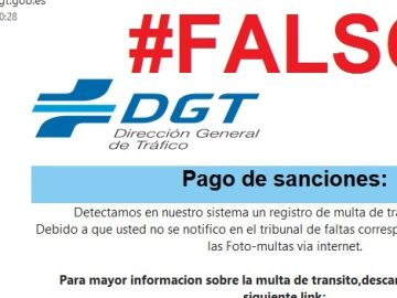 Estafa DGT: mail falso