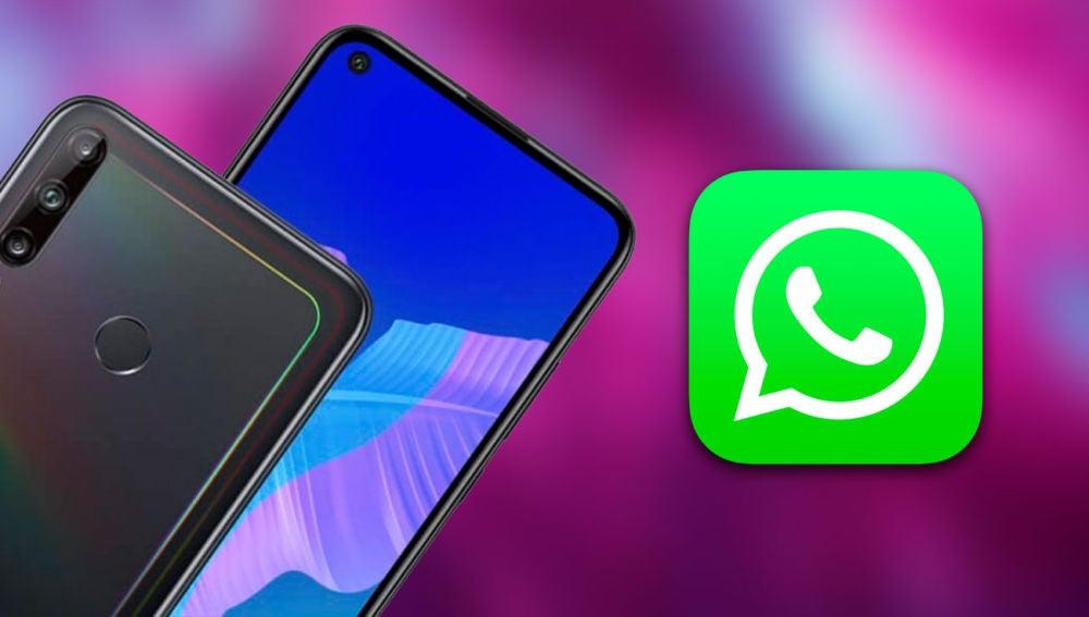 WhatsApp y un móvil Huawei