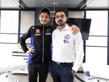 Valentino Rossi, con Michele Zasa