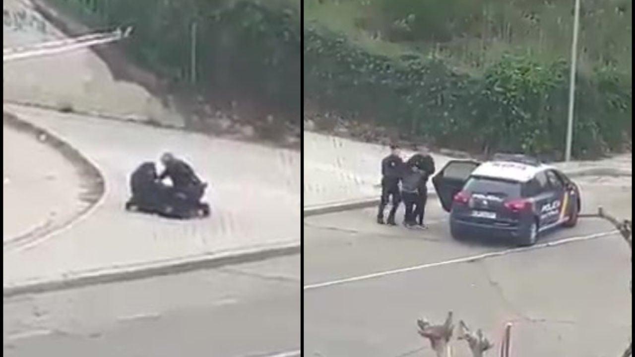 La Policía detiene a una 'runner'