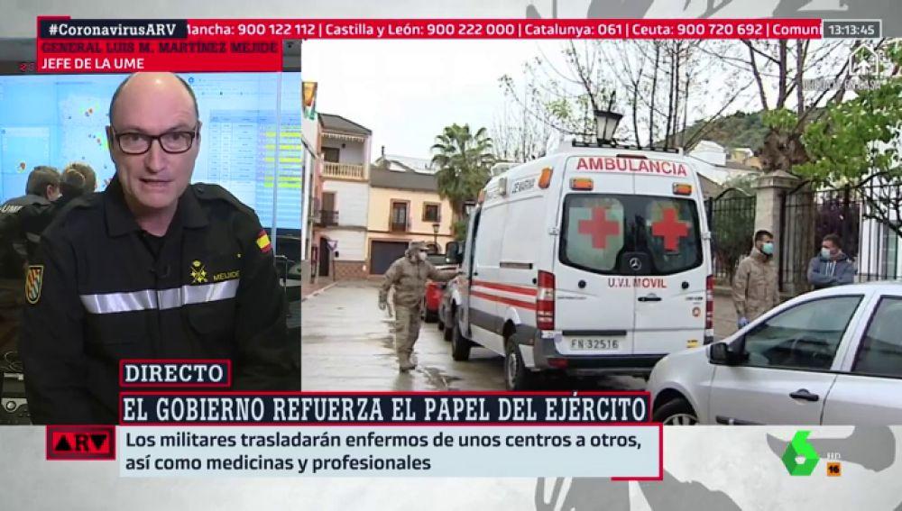 """Martínez Meijide, jefe de la UME: """"En la desinfección de residencias está ese componente de que estás cuidando a tus propios abuelos o padres"""""""